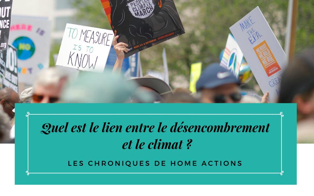 Quel est le lien entre le désencombrement et le climat ?